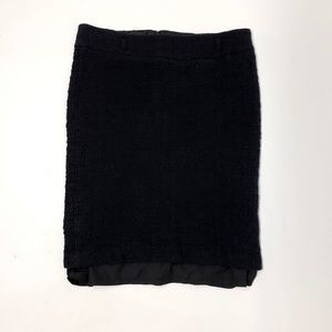 WHITE HOUSE BLACK MARKET WHBM Black Tweed Skirt 12